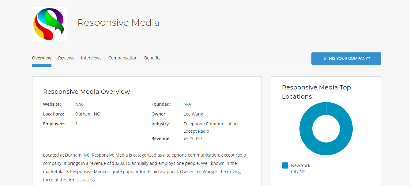 responsive media company profile