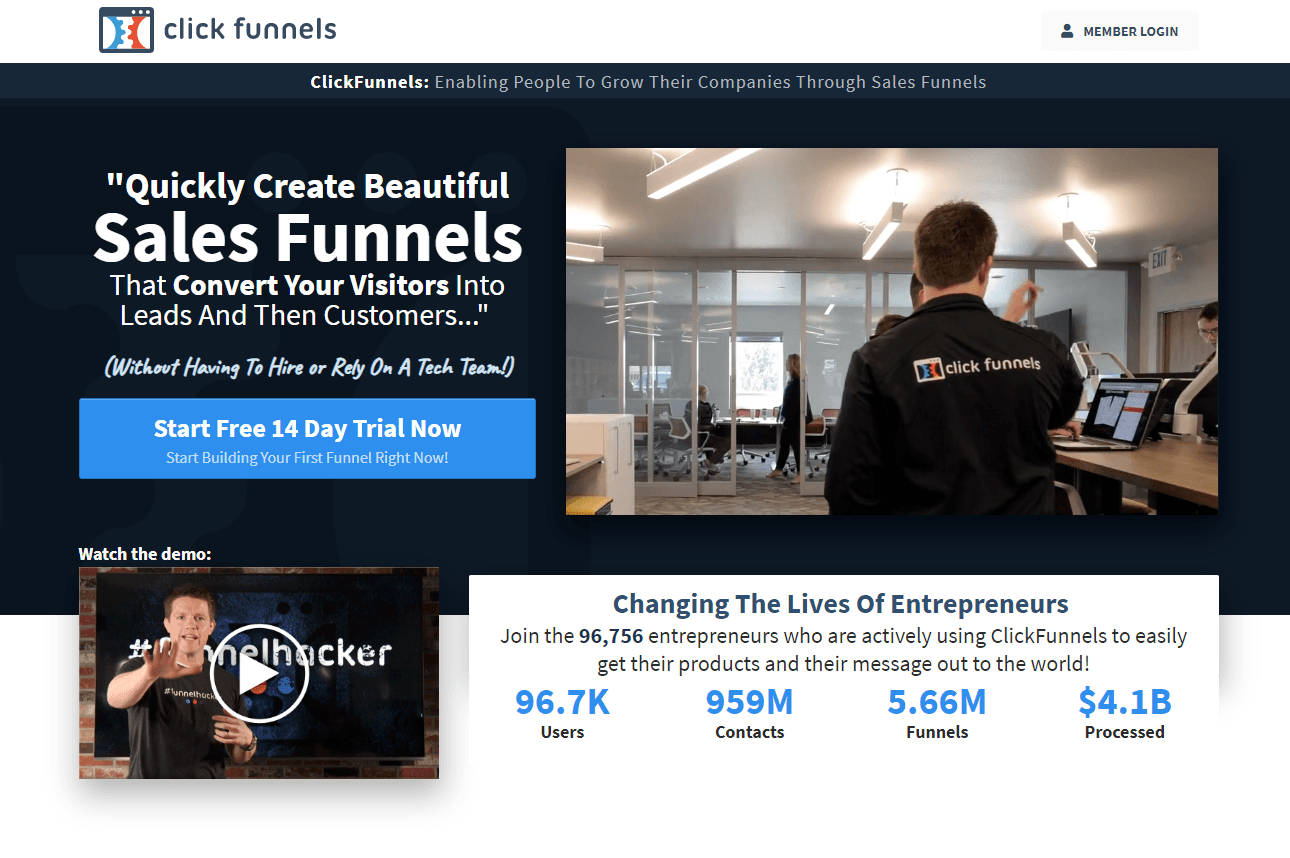 How To Make My Homepage Clickfunnels