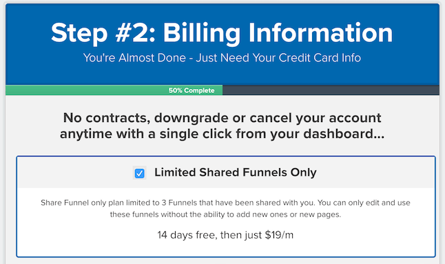 Click Funnel Pricing